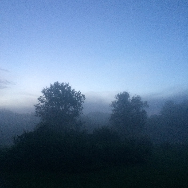 A misty evening in New Hampshire - copyright John Bennett